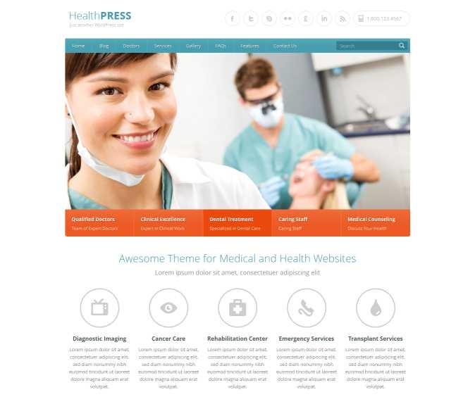 wellness WordPress Web design