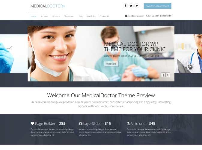 healthcare WordPress Web design