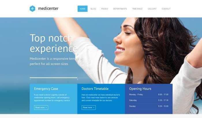 medical center Web design